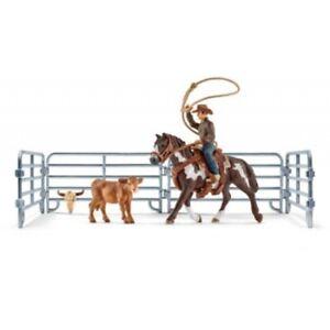 Schleich Farm World Team Roping with Cowboy 41418