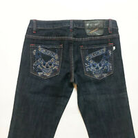 Ed Hardy Christian Audigier Jeans Womens Pants Bedazzle Denim Sz 29 ( 29 / 33 )