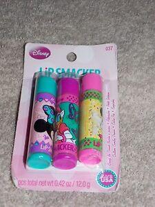 3 Lip Smacker COTTON CANDY CRUSH CUTIE PIE CUPCAKE Lip Balms .42 oz New