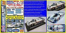 ANEXO DECAL 1/43 PORSCHE 962 C1 BELL STUCK HOLBERT LEMANS 1986 (07)