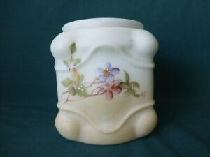 Antique Square Wavecrest Art Glass Biscuit Jar No Mounts