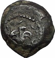 ALEXANDER JANNAEUS Lily Jewish Biblical Jerusalem Ancient Greek Coin i56337