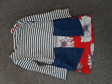 joules sadie hotchpotch dress red floral snow white stripe 1yr age 1-2