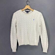 Ralph Lauren Sport Kids Boys Sweater Pullover Knit White Sz L
