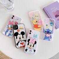 For iPhone 11 Pro Max XS XR 7 8+ Disney Cartoon Minnie Mickey Glitter phone Case