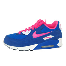 Nike 345018 121 Air Max 90 2007 Little Kids Girls PS Pink Blue Leather Shoes DS