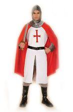 Mens Knight Crusader XL Fancy Dress Costume St George Medieval AC880x