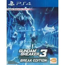PS4 Gundam Breaker 3 Break Edition (Asian English) RARE | BRAND NEW AND SEALED