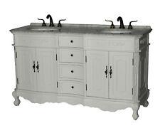 60-Inch Antique Style Double Sink Bathroom Vanity Model 1905-60 Wk