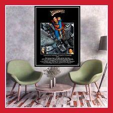REPRO TOILE PHOTO AFFICHE DECO SUPERMAN 1978 CINEMA SORTIE FILM MOVIE POSTER DVD