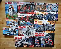 Lot#40 13 SETS LEGO Star Wars 75177 75188 75209 75216 75217 75218 75230 Retired