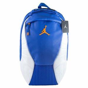 Nike Air Jordan 12 Retro Backpack Bag Hyper Royal Blue White Orange 9A1773-U5H