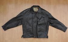"Mens Vintage Gavin Brown London Bomber 42"" Sun Moon Black Leather Jacket R6-11"