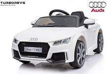 AUDI TT RS COUPE KIDS ELECTRIC 12V RIDE ON BATTERY CAR 2.4G REMOTE TWIN MOTORS