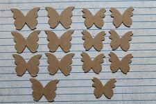 """14 Bare chipboard Butterfly small 2 different styles 7 @ 1 1/4"""" w and 1 1/16"""" w"""