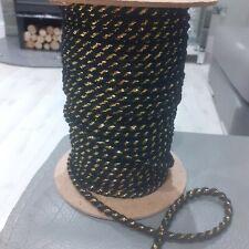 Job lot bundle of barley twist trim rope 25 metres black and gold crafts sewing