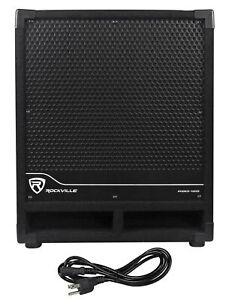 """New Rockville RBG12S Bass Gig 12"""" 1400 Watt Active Powered PA Subwoofer DJ/Pro"""