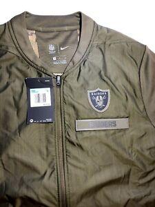 Nike Men's Oakland Raiders Salute To Service Hybrid Jacket Medium NFL STS NWT