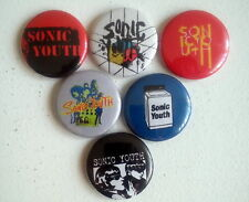 "6 x Sonic Youth 1"" Pin Button Badges ( evol sister goo dirty washing machine )"