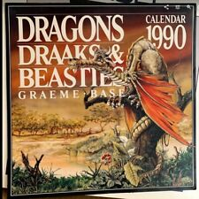 "Rare Graeme Base ""Dragons Draaks & Beasties"" 1990 Calendar"