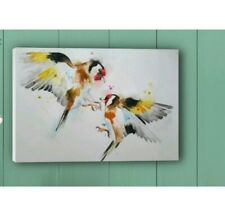 Canvas print of my original art watercolour painting of Goldfinch Birds