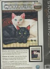 Dimensions EBONY AND IVORY-Chats-Counted Cross Stitch Kit Par Drew strouble