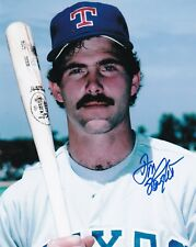 DON SLAUGHT  TEXAS RANGERS  ACTION SIGNED 8x10