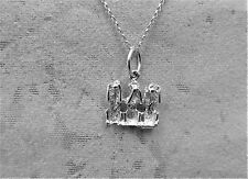 """Sterling Silver (925)  Solid 3D Charm """"3 Wise Monkeys"""""""