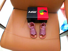 chaussure neuve aster chevre rose metal  modele luzon taille 21 superbe couleurs