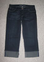 MOSSIMO CROP CUFFED DARK WHISKER WASH 11 STRETCH JEANS