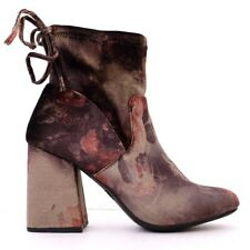 9e21aa7deef1 NEW TARGET WOMEN S VELVET RED BROWN BLACK GOLD ANKLE BOOTS SIZE 8 MULTICOLOR