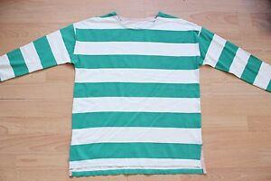 BODEN green  striped   drop shoulder  breton  size 6