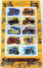 MOTORCYCLE STAMPS SHEET OF 10 2002 MNH FRANCE HARLEY DAVIDSON YAMAHA BMW HONDA