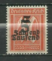 1923 German Hyper inflation Doubled Over Print Error Stamp .0