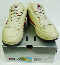Vintage FILA T-1 Mid Cream Navy Red Sneakers size 8
