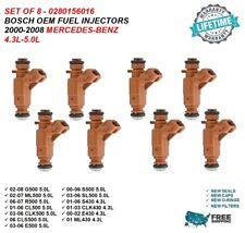 8Pcs Fuel Injectors for Mercedes G500 ML500 CLK500 5.0L 4.3L 0280156016