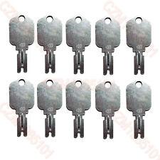 (10) Forklift Key for Clark Yale Hyster Komatsu Gradall Gehl Crown & More 166