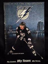 NHL Tampa Bay Lightning  / 2008 - 09 Ice Time Game Program