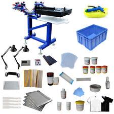 Screen Printing 4 Color Press Kit Vertical Printer with Dryer & Exposure/ Tool