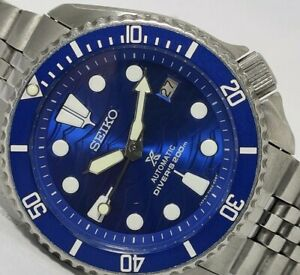 LOVELY SAVE THE OCEAN MODDED SEIKO DIVER 7002-7000 AUTOMATIC MEN'S WATCH 681027