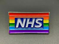 2021 Thank You Hero NHS Nurse Doctor Pride Rainbow Flag Brooch Enamel Pin Badge