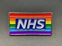 2020 Thank You Pride NHS Nurse Doctor Pride Rainbow Flag Brooch Enamel Pin Badge