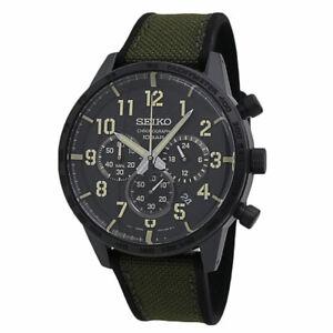 Seiko Essentials Chronograph Black Dial Men's watch SSB369