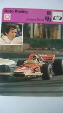 SPORTSCASTER RENCONTRE COLLECTABLE CARD  AUTO RACING JOCHEN RINDT