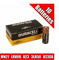 10 Duracell MN21 Alkaline 12V Battery LRV08 A23