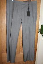 Designer Bruuns Bazaar Women Grey Wool Straight Leg Trousers Size 44 UK 16 BNWT