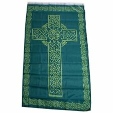 Irish Celtic Cross Flag 3x5 Ireland Banner Christian Catholic St Patrick Saint