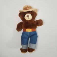 Vintage 1980s Three Bears Smokey the Bear Stuffed Plush Stuffed Toy