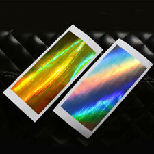 2PCS Strip Holographic Tape Nail Art Stickers Holo Stripe Line Foil Decal 13*6mm