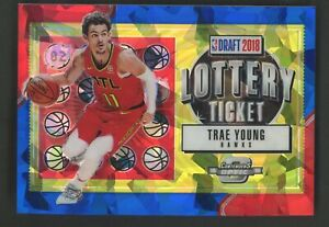 2018-19 Contenders Optic Blue Ice Lottery Ticket Trae Young RC Rookie